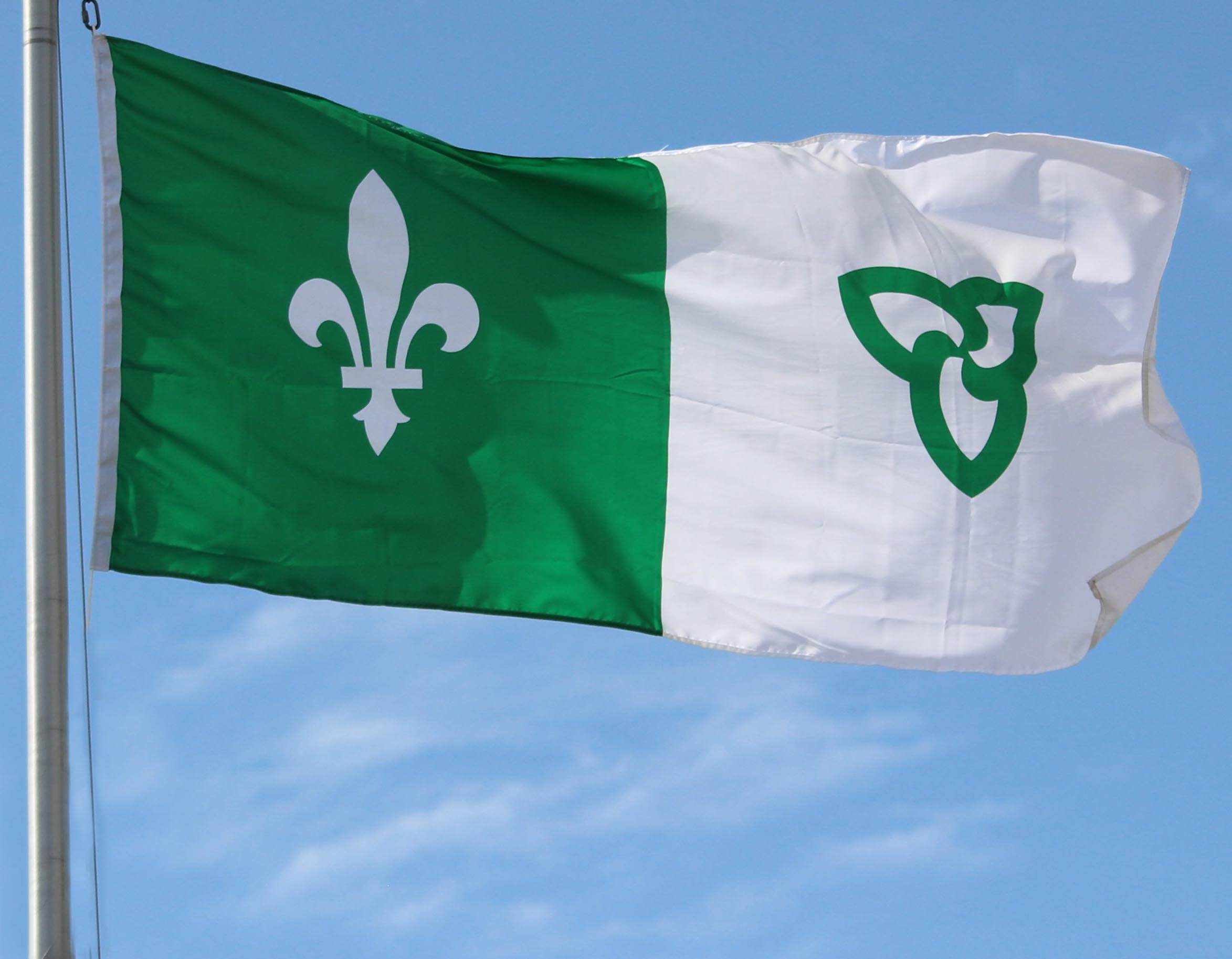 Image result for drapeaux franco-ontariens